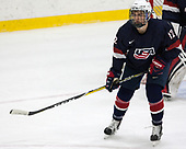 Tommy Miller (NTDP - 12) - The Harvard University Crimson defeated the US National Team Development Program's Under-18 team 5-2 on Saturday, October 8, 2016, at the Bright-Landry Hockey Center in Boston, Massachusetts.