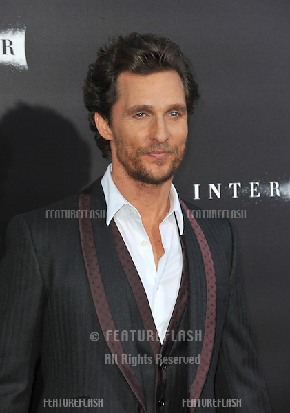 Matthew McConaughey at the Los Angeles premiere of his movie Interstellar at the TCL Chinese Theatre, Hollywood.<br /> October 26, 2014  Los Angeles, CA<br /> Picture: Paul Smith / Featureflash