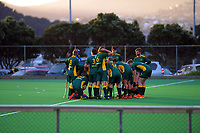 Action from the men's premier one Wellington Hockey match between Hutt United and Victoria University at National Hockey Stadium in Wellington, New Zealand on Saturday, 13 June 2020. Photo: Dave Lintott / lintottphoto.co.nz