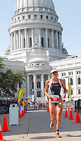 Gina Ferguson sets a course record on Sunday; 9/9/07; as the top finishing woman; beating the old record by over nine minutes