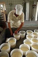 """Caseificio """" L' isola del Formaggio """" (Bracciano) dove Sergio Pitzalis produce formaggi. Il Caciofiore è un formaggio di pecora a latte crudo, tipo Pecorino Romano..Cheese factory """"L 'isola del Formaggio"""" (Bracciano), where Sergio Pitzalis produces cheese. The Caciofiore is a cheese from raw sheep's milk, such as Pecorino Romano...."""