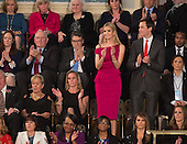 Ivanka Trump with husband and presidential advisor Jared Kushner applaud as U.S. President Donald J. Trump addresses a joint session of Congress on Capitol Hill in Washington, DC, February 28, 2017. <br /> Credit: Chris Kleponis / CNP