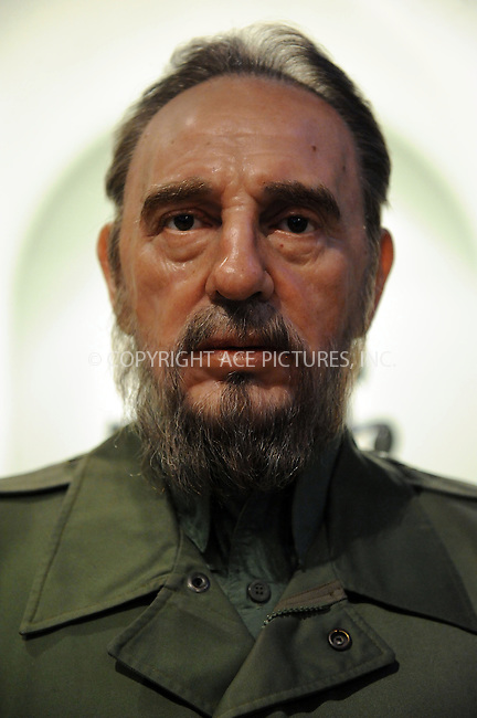 WWW.ACEPIXS.COM . . . . . ....January 26 2010, New York City....Wax figure of Fidel Castro on display at Madame Tussaud's on January 26 2010 in New York City. ....Please byline: KRISTIN CALLAHAN - ACEPIXS.COM.. . . . . . ..Ace Pictures, Inc:  ..tel: (212) 243 8787 or (646) 769 0430..e-mail: info@acepixs.com..web: http://www.acepixs.com
