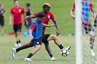 Nashville, TN - July 4, 2017: Cristian Roldan and  Gyasi Zardes during Training @ Lipscomb University prior to their 2017 Gold Cup.