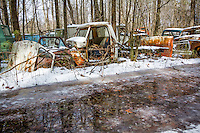 Old Car City claims to be the world's largest and oldest old car junkyard, covering 34 acres  and over 4000 old cars. Located an hour north of Atlanta,  with 6.5 miles of trails between Chevy's and Fords, Packards to T birds all built before 1975 and in the same location and same family since 1931.