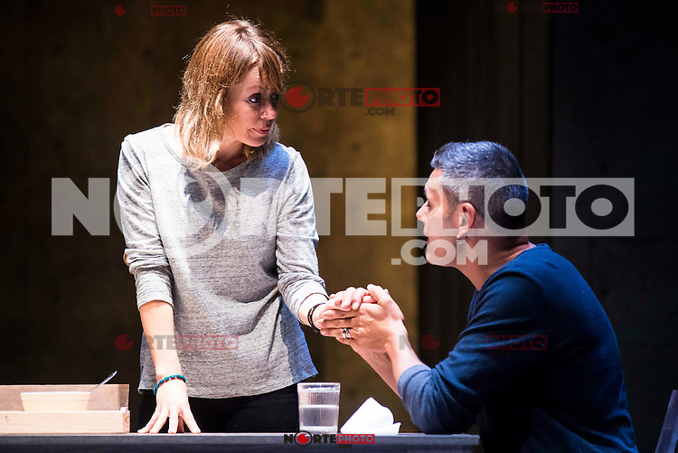 "Maria Adanez and Roberto Enriquez during the theater play of ""El Pequeño Poni"" at Teatro Bellas Artes in Madrid. August 16, Spain. 2016. (ALTERPHOTOS/BorjaB.Hojas) /NORTEPHOTO"