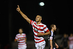 Mickael Antoine-Curier celebrates as he scores Hamilton's third goal of the evening