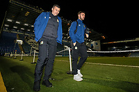 Blackburn Rovers' Paul Caddis and Adam Armstrong arriving at the stadium<br /> <br /> Photographer Andrew Kearns/CameraSport<br /> <br /> The EFL Sky Bet League One - Portsmouth v Blackburn Rovers - Tuesday 13th February 2018 - Fratton Park - Portsmouth<br /> <br /> World Copyright &copy; 2018 CameraSport. All rights reserved. 43 Linden Ave. Countesthorpe. Leicester. England. LE8 5PG - Tel: +44 (0) 116 277 4147 - admin@camerasport.com - www.camerasport.com