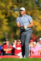 Lee Westwood (ENG)(Team Europe) on the 17th tee during Sunday Singles matches at the Ryder Cup, Hazeltine National Golf Club, Chaska, Minnesota, USA.  02/10/2016<br /> Picture: Golffile | Fran Caffrey<br /> <br /> <br /> All photo usage must carry mandatory copyright credit (&copy; Golffile | Fran Caffrey)