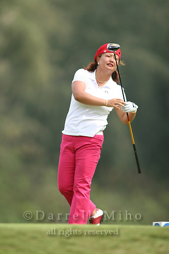 February 18, 2006; Kahuku, HI - Christina Kim watches her tee shot during the final round of the LPGA SBS Open at Turtle Bay Resort...Mandatory photo credit: Darrell Miho.© Darrell Miho