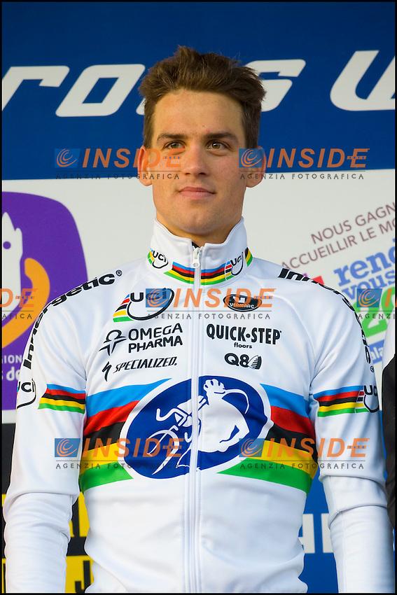 Zdenek Stybar Repubblica Ceca Vincitore.Lievin Francia 15/1/2012.Coppa del Mondo di Ciclocross.Foto Insidefoto / JB Autissier / Panoramic