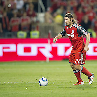 27 August 2011: Toronto FC midfielder Torsten Frings #22 in action during a game between the San Jose Earthquakes and Toronto FC at BMO Field in Toronto..The game ended in a 1-1 draw.