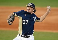 Florida International University left handed pitcher Mason McVay (27) plays against Florida Atlantic University. FAU won the game 5-1 on March 16, 2012 at Miami, Florida.