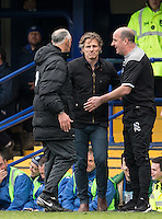 Wycombe Wanderers Manager Gareth Ainsworth is unhappy after a off the ball incident during the Sky Bet League 2 match between Portsmouth and Wycombe Wanderers at Fratton Park, Portsmouth, England on 23 April 2016. Photo by Andy Rowland.