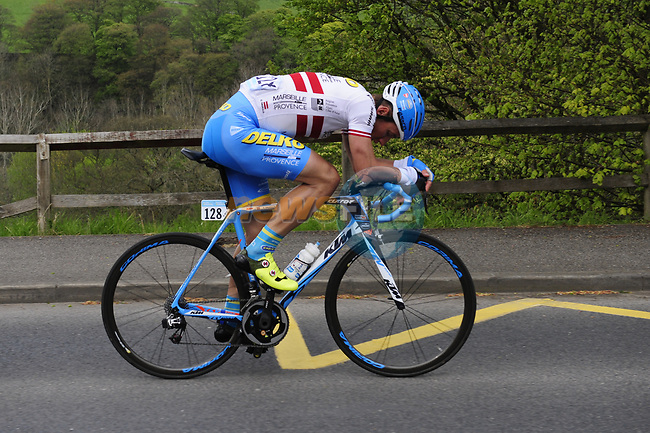 Gatis Smukulis Delko Marseille Provence KTM in action during Stage 3 of the Tour de Yorkshire 2017 running 194.5km from Bradford/Fox Valley to Sheffield, England. 30th April 2017. <br /> Picture: ASO/P.Ballet | Cyclefile<br /> <br /> <br /> All photos usage must carry mandatory copyright credit (&copy; Cyclefile | ASO/P.Ballet)