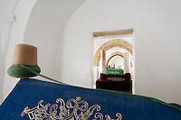 Nordzypern, Mevlevi Tekke-Museum in Nicosia Lefkosa), ehemaliges Derwischkloster, Mausoleum der Scheichs
