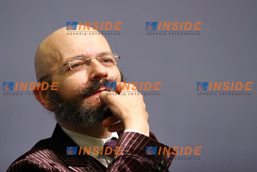 Roma 20-11-2006 Alleanza Nazionale:Finanziaria,SOS Impresa:Impresa e Mercato,crescita o declino?<br /> Nella foto il giornalista Oscar Giannino<br /> Photo Serena Cremaschi Inside<br /> (www.insidefoto.com)