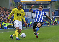 Blackburn Rovers' Ryan Nyambe gets a cross in past Sheffield Wednesday's Liam Palmer<br /> <br /> Photographer David Shipman/CameraSport<br /> <br /> The EFL Sky Bet Championship - Sheffield Wednesday v Blackburn Rovers - Saturday 16th March 2019 - Hillsborough - Sheffield<br /> <br /> World Copyright &copy; 2019 CameraSport. All rights reserved. 43 Linden Ave. Countesthorpe. Leicester. England. LE8 5PG - Tel: +44 (0) 116 277 4147 - admin@camerasport.com - www.camerasport.com