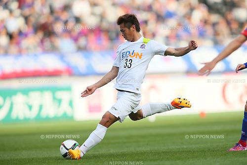 Tsukasa Shiotani (Sanfrecce), <br /> APRIL 18, 2015 - Football /Soccer : <br /> 2015 J1 League 1st stage match <br /> between F.C. Tokyo 1-2 Sanfrecce Hiroshima <br /> at Ajinomoto Stadium, Tokyo, Japan. <br /> (Photo by YUTAKA/AFLO SPORT) [1040]