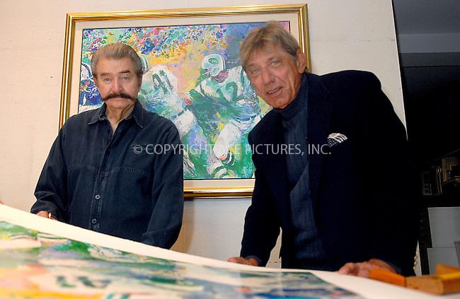 WWW.ACEPIXS.COM . . . . . ....January 18, 2007, Ne York City. ....Joe Namath and Leroy Neiman Unveil and Sign Limited Edition Serigraph 'Handoff - Super Bowl III' at the Artist's Manhattan Studio. ....Please byline: KRISTIN CALLAHAN - ACEPIXS.COM.. . . . . . ..Ace Pictures, Inc:  ..(212) 243-8787 or (646) 769 0430..e-mail: info@acepixs.com..web: http://www.acepixs.com