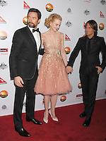 LOS ANGELES, CA - JANUARY 12: Hugh Jackman, Nicole Kidman and Keith Urban attend the 2013 G'Day USA Black Tie Gala at JW Marriott Los Angeles at L.A. LIVE on January 12, 2013 in Los Angeles, California.PAP0101387.G'Day USA Black Tie Gala PAP0101387.G'Day USA Black Tie Gala