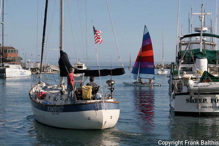 Sailing at Santa Cruz Harbor
