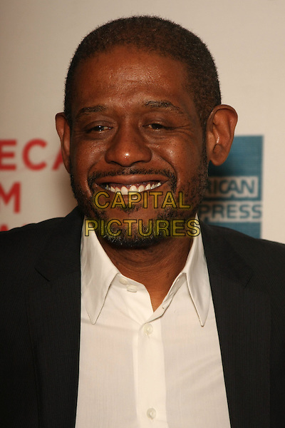 "FOREST WHITAKER .attending the 2010 Tribeca Film Festival Premiere of ""My Own Love Song"" held at the Tribeca Performing Arts Center, New York, NY, USA,  22nd April 2010..portrait headshot beard facial hair smiling  black white shirt                                                         CAP/LNC/TOM.©LNC/Capital Pictures."