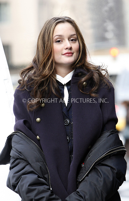 WWW.ACEPIXS.COM . . . . .  ....November 20 2008, New York City....Actress Leighton Meester was on the set of the TV show 'Gossip Girl' on November 20 2008 in New York City....Please byline: NANCY RIVERA- ACE PICTURES.... *** ***..Ace Pictures, Inc:  ..tel: (646) 769 0430..e-mail: info@acepixs.com..web: http://www.acepixs.com