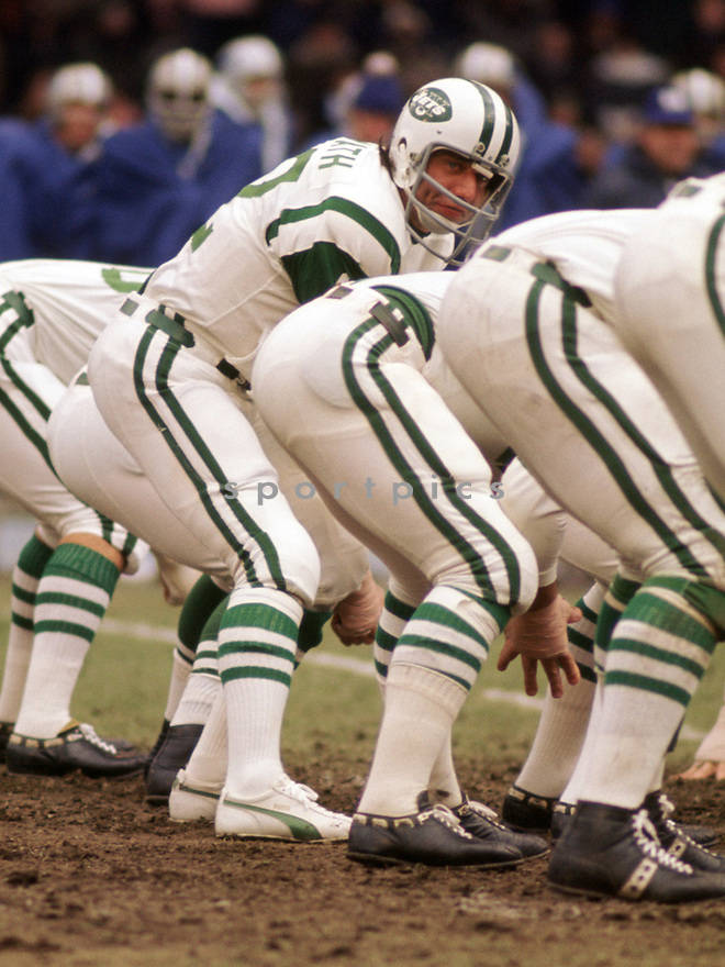 New  York Jets Joe Namath (12) during a game from his 1972 season with the New York Jest. Joe Namath played for 13 years for 2 different teams, was a 5-time Pro Bowler and was inducted to the Pro Football Hall of Fame in 1985.(SportPics)