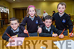 Sean Wright, Roisin Rahilly, Micheal Culloty, Evan Boyle from Scoil Nuachabhail at the Credit Union Primary schools  Table Quiz in Brandon Hotel on Sunday