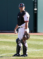 April 8, 2005:  Catcher Ryan Garko of the Buffalo Bisons during a game at Dunn Tire Park in Buffalo, NY.  Buffalo is the International League Triple-A affiliate of the Cleveland Indians.  Photo by:  Mike Janes/Four Seam Images