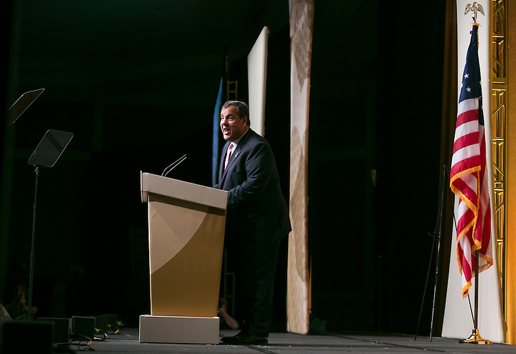 UNITED STATES - JUNE 19- New Jersey Gov. Chris Christie speaks at the Faith & Freedom Coalition's Road to Majority conference, which featured speeches by conservative politicians at the Omni Shoreham Hotel in Washington D.C. on June 19, 2015. (Photo By Al Drago/CQ Roll Call)
