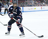 Patrick Kirtland (UConn - 24) - The Boston University Terriers defeated the visiting University of Connecticut Huskies 4-2 (EN) on Saturday, October 24, 2015, at Agganis Arena in Boston, Massachusetts.