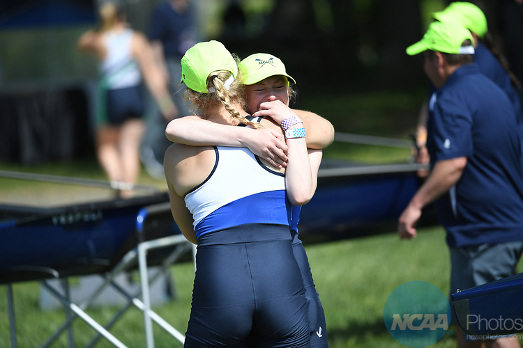 WEST WINDSOR, NJ - MAY 28: Western Washington University Celebrates after winning the national championship during the Division II Women's Rowing Championship held at Lake Mercer on May 28, 2017 in West Windsor, New Jersey. Western Washington University won the National Championship. (Photo by Justin Tafoya/NCAA Photos via Getty Images)