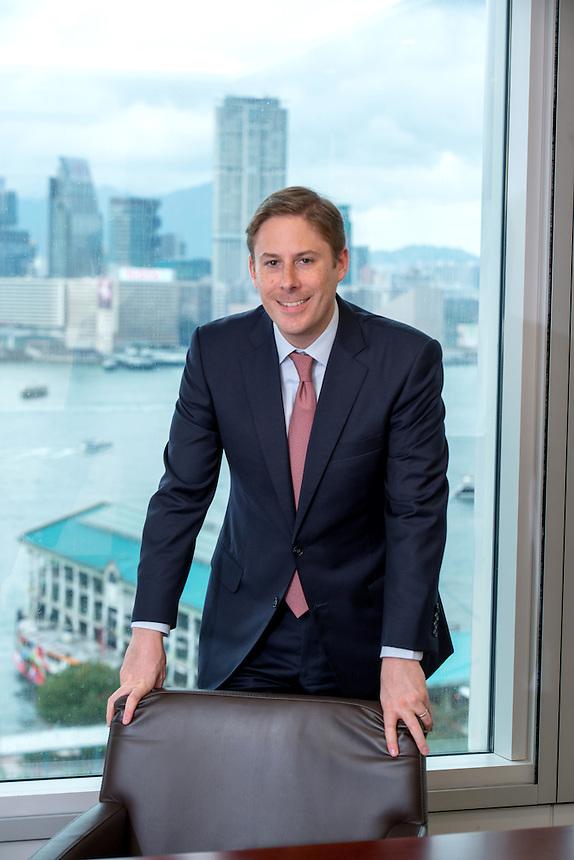 Hong Kong SAR,China.8th May 2015.<br /> Chris Heady Fund manager for Blackstone Hong Kong<br /> Pic Jayne Russell +852 97578607.<br /> Date-08.05.15