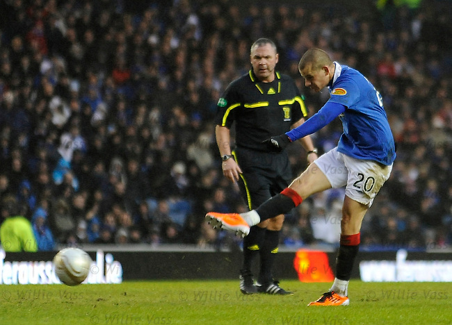 Vladimir Weiss scores the opening goal for Rangers