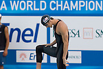 Jul 31 2009; Rome Italy; Michael Phelps (USA) competing in the mens 100m butterfly semi final, at the 13th Fina World Aquatics Championships held in the The Foro Italico Swimming Complex. Mandatory credit: Mitchell Gunn-US PRESSWIRE