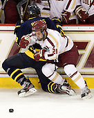 Kyle Bigos (Merrimack - 3), Steven Whitney (BC - 21) - The Boston College Eagles defeated the Merrimack College Warriors 4-2 to give Head Coach Jerry York his 900th collegiate win on Friday, February 17, 2012, at Kelley Rink at Conte Forum in Chestnut Hill, Massachusetts.
