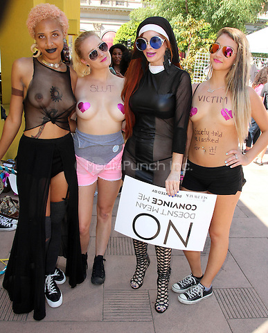 Phoebe Price at the Amber Rose Slut Walk on Pershing Square  in Los Angeles, California on October 3, 2015. Credit: David Edwards/MediaPunch