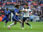Chelsea's David Luiz tussles with Tottenham's Dele Alli during the FA Cup Semi Final match at Wembley Stadium, London. Picture date: April 22nd, 2017. Pic credit should read: David Klein/Sportimage