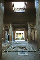Italy: Pompeiian House (of Giulia Felice)--Atrium and Impluvium. Photo '83.