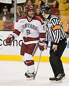 Jimmy Fraser (Harvard - 9) - The Northeastern University Huskies defeated the Harvard University Crimson 3-1 in the Beanpot consolation game on Monday, February 12, 2007, at TD Banknorth Garden in Boston, Massachusetts.