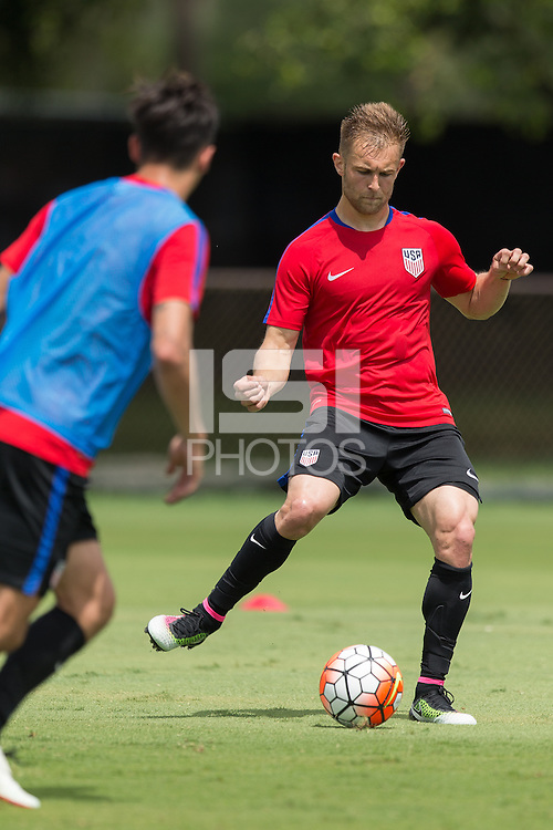 Miami, FL. - May 17, 2016: The USMNT train in preparation for the 2016 Copa America Centenary at Barry University.