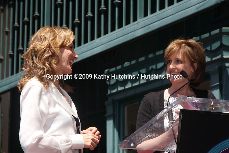 Marlee Matlin, Anne Sweeney  attending the Hollywood Walk of Fame Ceremony for Marlee Matlin on Hollywood Boulevard in Los Angeles, CA  on May 6, 2009.©2009 Kathy Hutchins / Hutchins Photo....                .