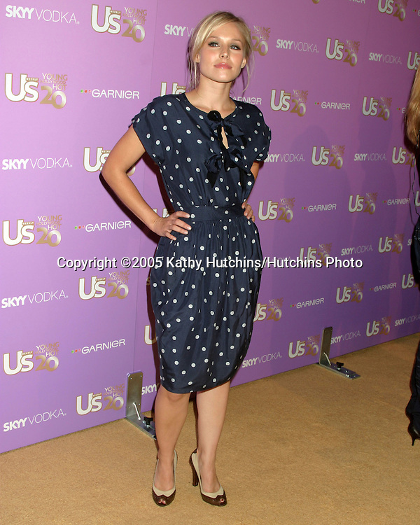 Kirsten Bell.US Magazine Hot 20 Party.LAX Club.Los Angeles, CA.September 17, 2005.©2005 Kathy Hutchins / Hutchins Photo