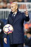 Real Madrid's coach Zinedine Zidane during La Liga match. April 5,2017. (ALTERPHOTOS/Acero)