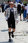 Masafumi Suzuki at the Gucci's Fashion Show as part of the Milan's Fashion Week Men's wear Spring/Summer 2016, in Milan on June 22, 2015.