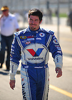Feb 10, 2008; Daytona Beach, FL, USA; Nascar Sprint Cup Series driver Patrick Carpentier (10) during qualifying for the Daytona 500 at Daytona International Speedway. Mandatory Credit: Mark J. Rebilas-US PRESSWIRE