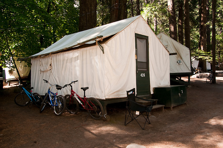 Tent cabin Curry VillageYosemite Valley pines c&grounds Yosemite National Park & Tent cabin Curry VillageYosemite Valley pines Campground ...