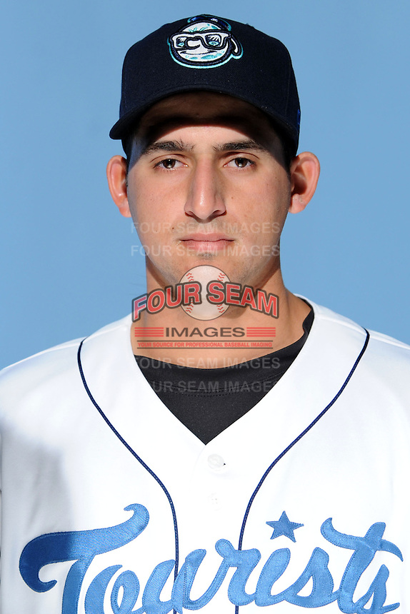 Asheville Tourists pitcher Alving Mejias #19  at Story Point Media on April 2, 2013 in Asheville, North Carolina. (Tony Farlow/Four Seam Images).